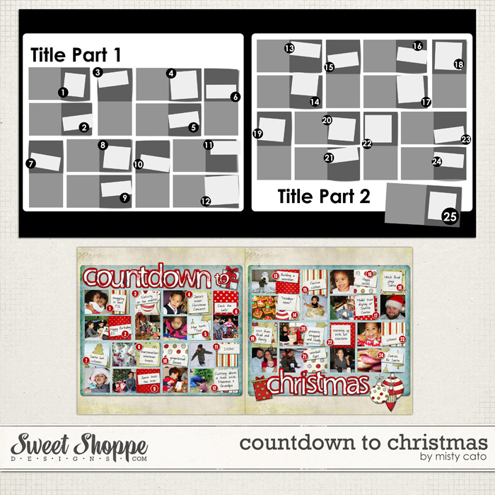 Countdown to Christmas Template by Misty Cato