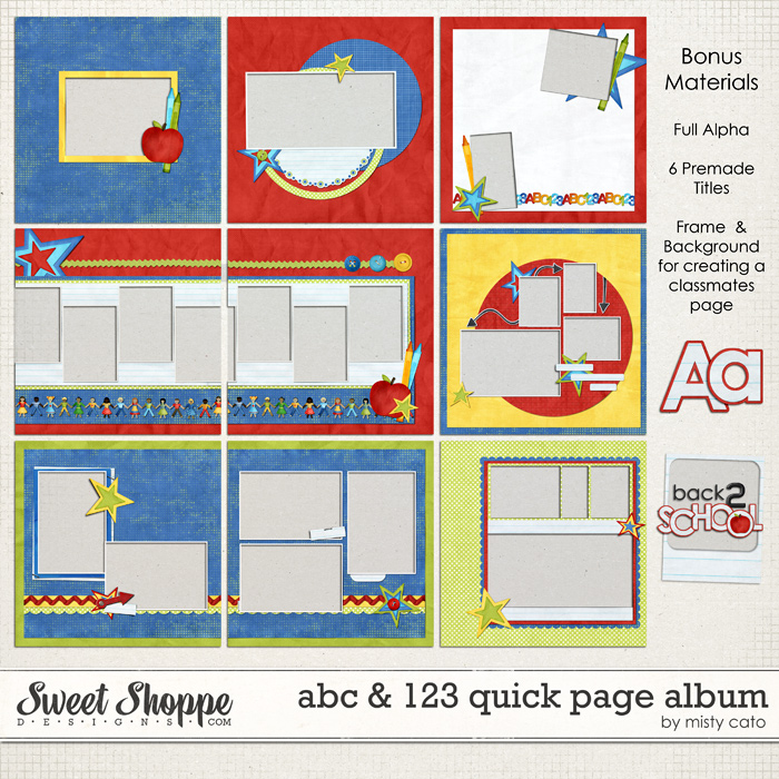 ABC & 123 Quick Page Album by Misty Cato