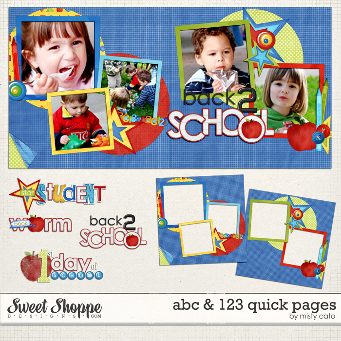 ABC & 123 Quick Pages by Misty Cato