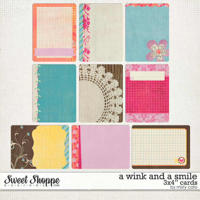 A Wink and a Smile Journaling Cards by Misty Cato