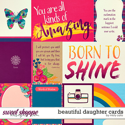 Beautiful Daughter Cards by Misty Cato