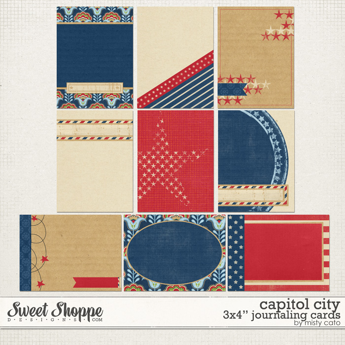 Capitol City 3x4 Journal Cards by Misty Cato