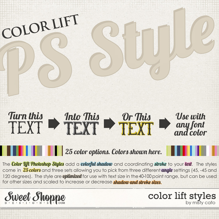 Color Lift Photoshop Styles by Misty Cato