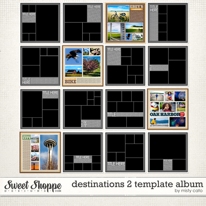 Sweet shoppe designs making your memories sweeter destinations 2 template album by misty cato pronofoot35fo Gallery