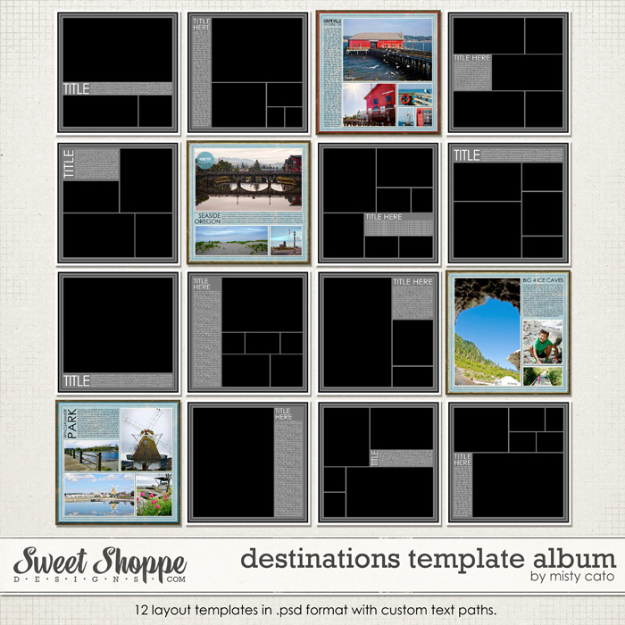 Destinations Template Album by Misty Cato