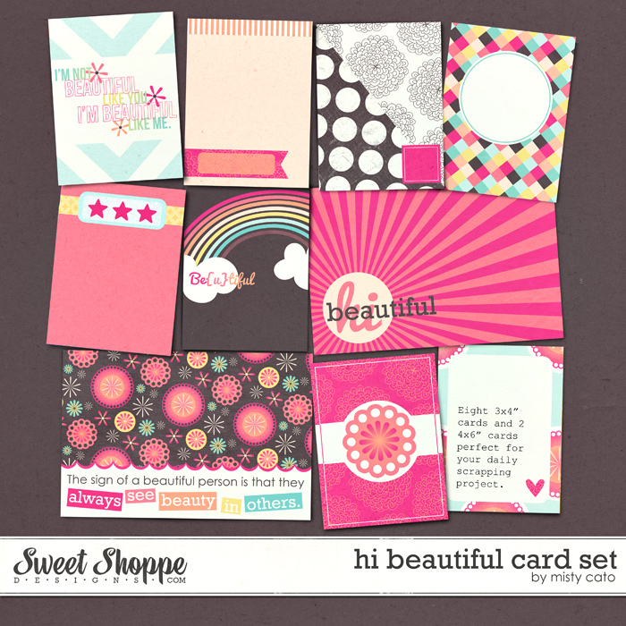 Hi Beautiful Card Set by Misty Cato