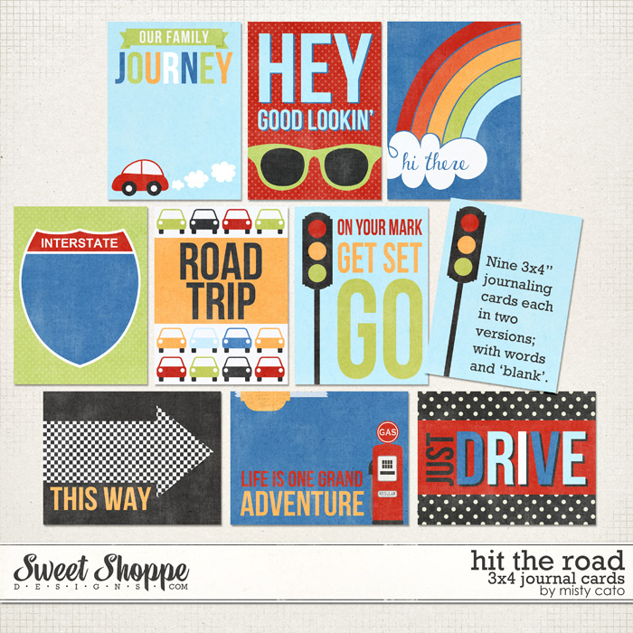 Hit the Road 3x4 Journal Cards by Misty Cato