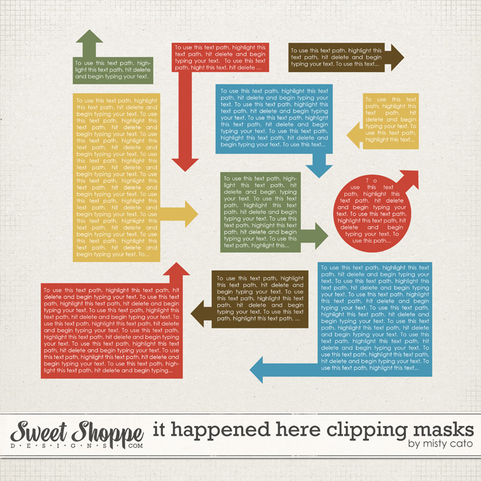 It Happened Here Clipping Masks by Misty Cato