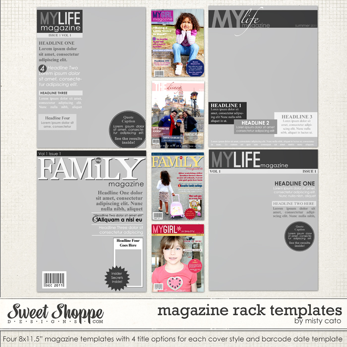 Magazine Rack Templates by Misty Cato
