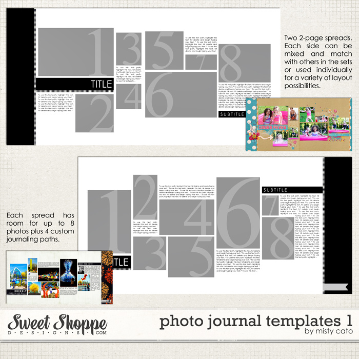 Photo Journal Templates 1 by Misty Cato