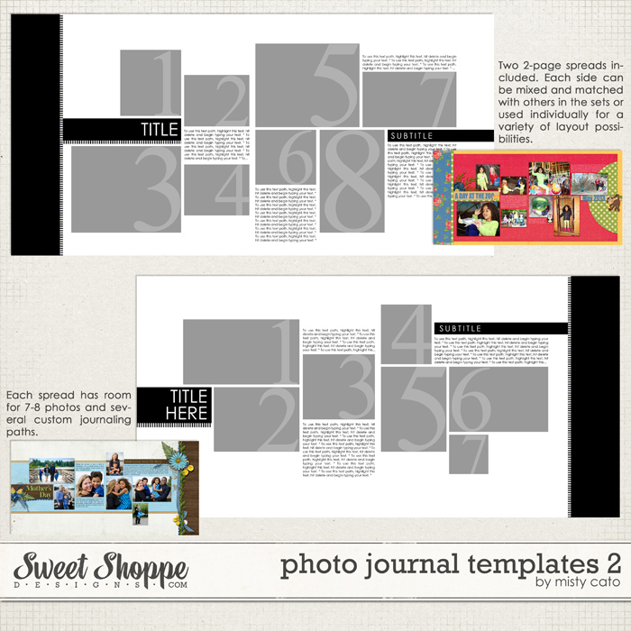 Photo Journal Templates 2 by Misty Cato
