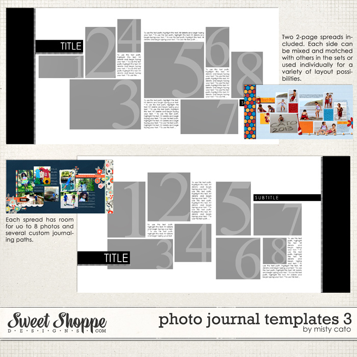 Photo Journal Templates 3 by Misty Cato