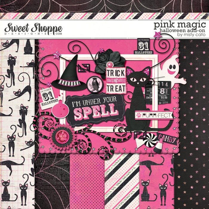Pink Magic Halloween Add-On by Misty Cato
