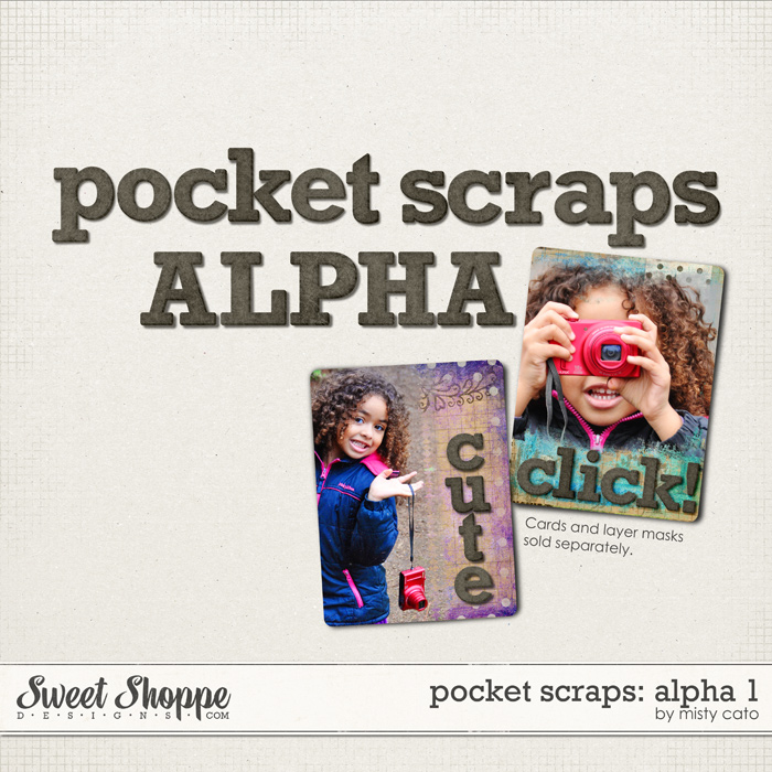 Pocket Scraps: Alpha 1 by Misty Cato