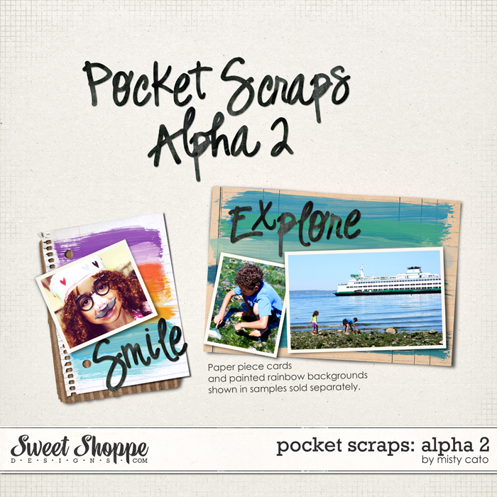 Pocket Scraps: Alpha 2 by Misty Cato