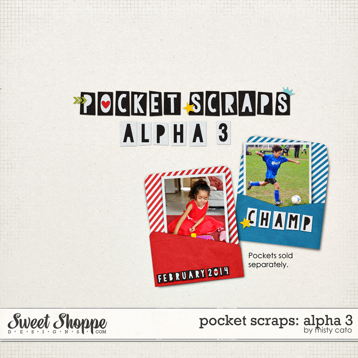 Pocket Scraps: Alpha 3 by Misty Cato