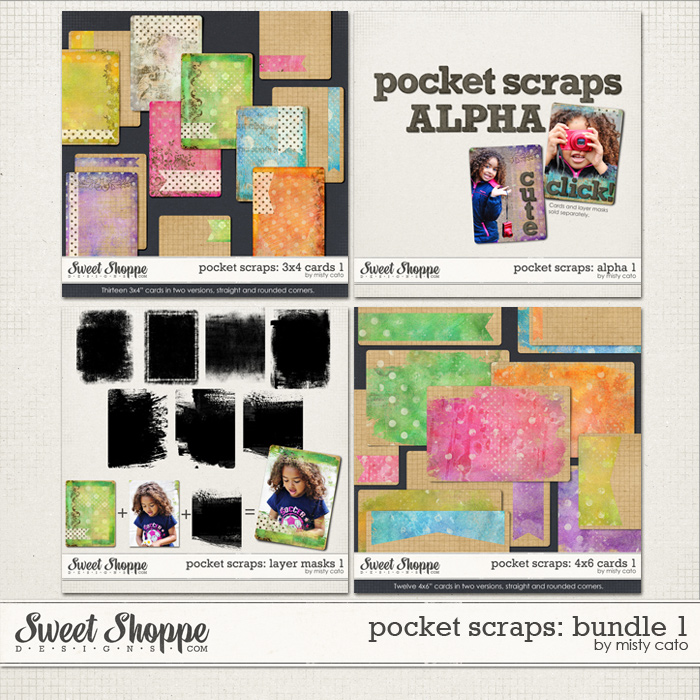Pocket Scraps: Bundle 1 by Misty Cato
