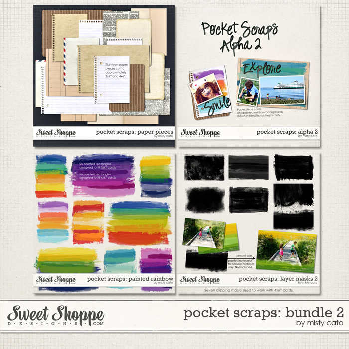 Pocket Scraps: Bundle 2 by Misty Cato