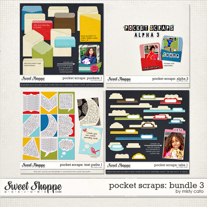 Pocket Scraps: Bundle 3 by Misty Cato