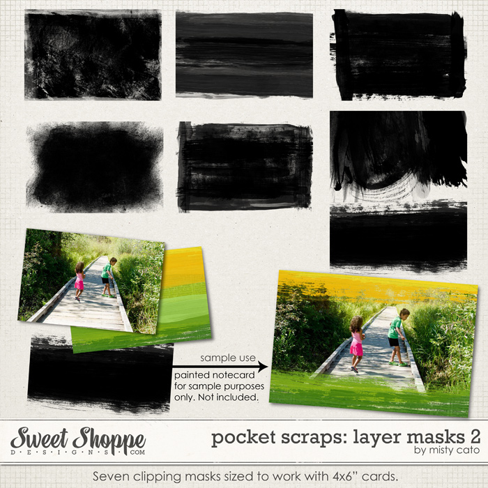 Pocket Scraps: Layer Masks 2 by Misty Cato