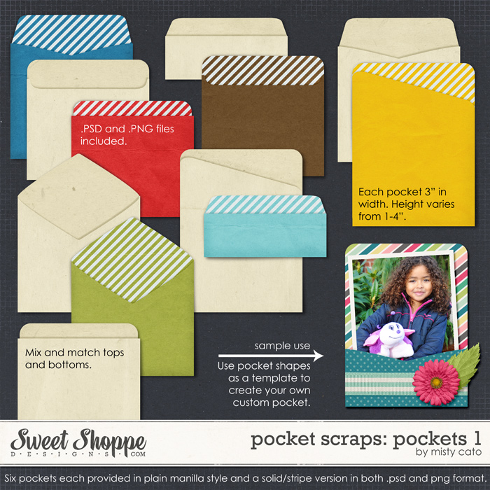 Pocket Scraps: Pockets 1 by Misty Cato