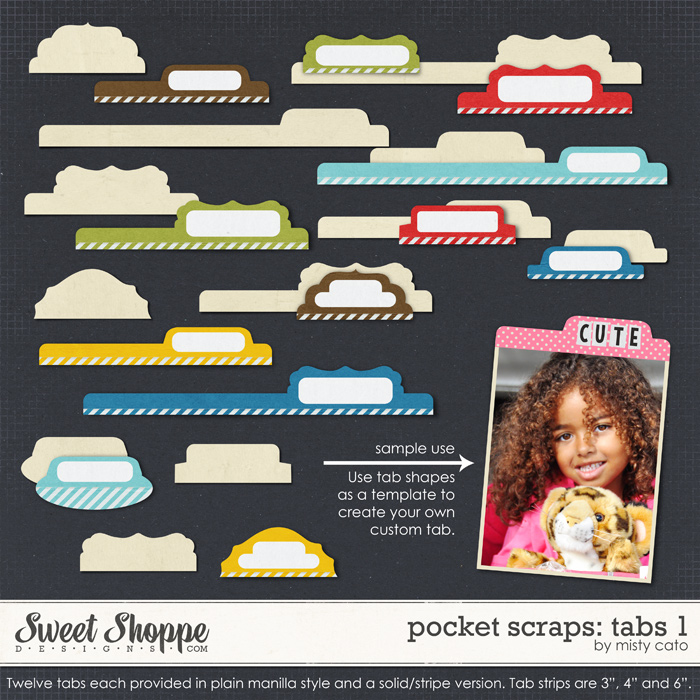 Pocket Scraps: Tabs 1 by Misty Cato