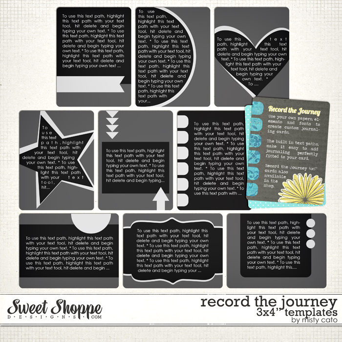 Record the Journey 3x4 Templates by Misty Cato