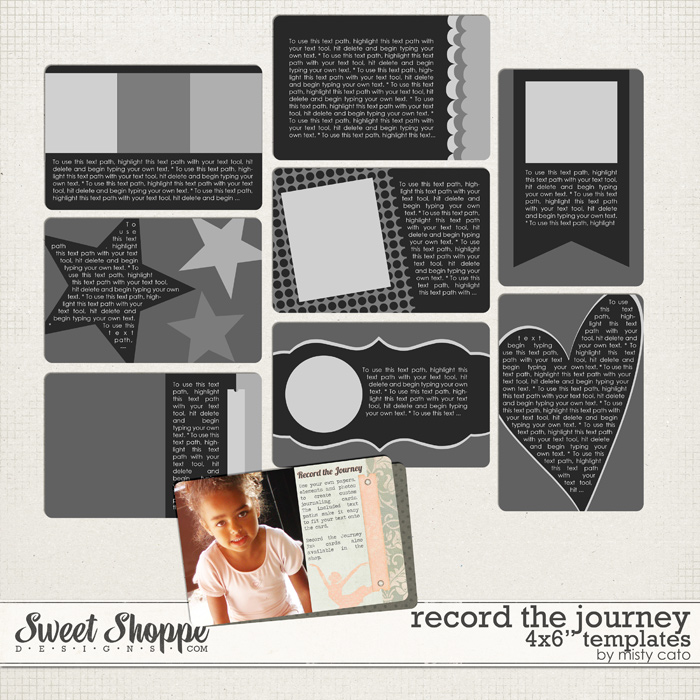 Record the Journey 4x6 Templates by Misty Cato