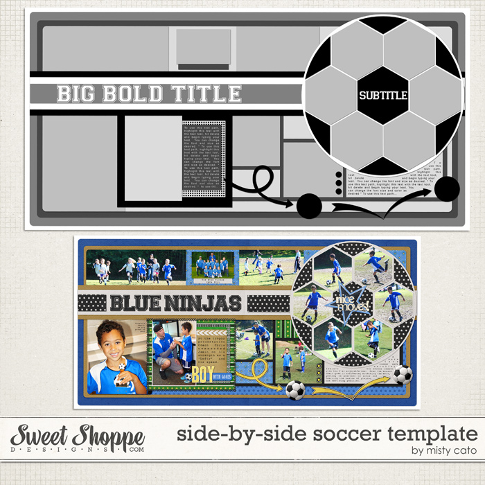 Side by Side Soccer Template by Misty Cato