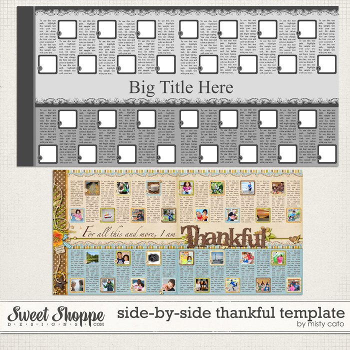 Side by Side Thankful Template by Misty Cato