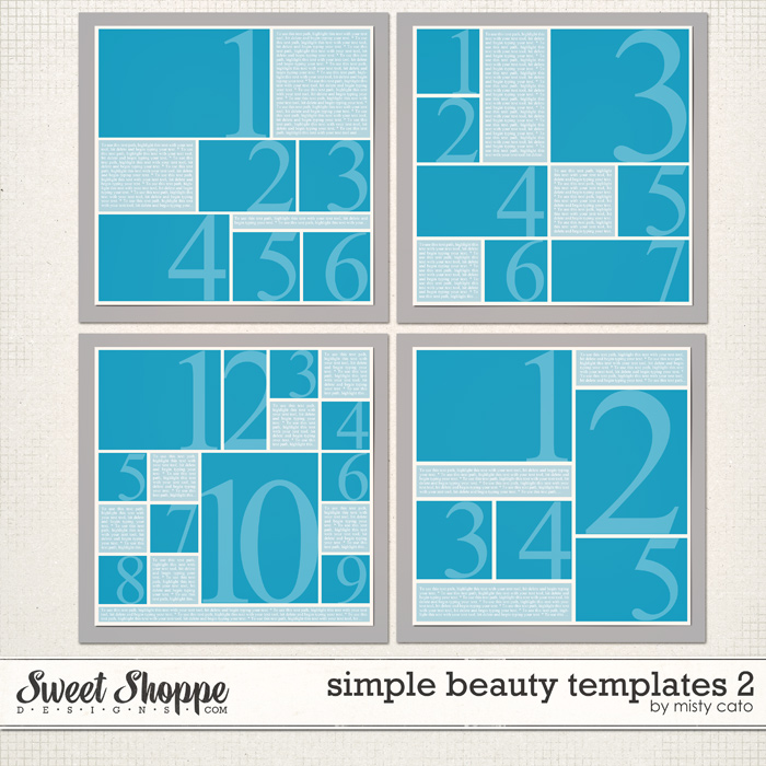 Simple Beauty Templates 2 by Misty Cato