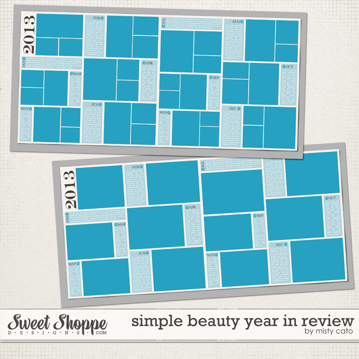 Simple Beauty Year In Review Template by Misty Cato