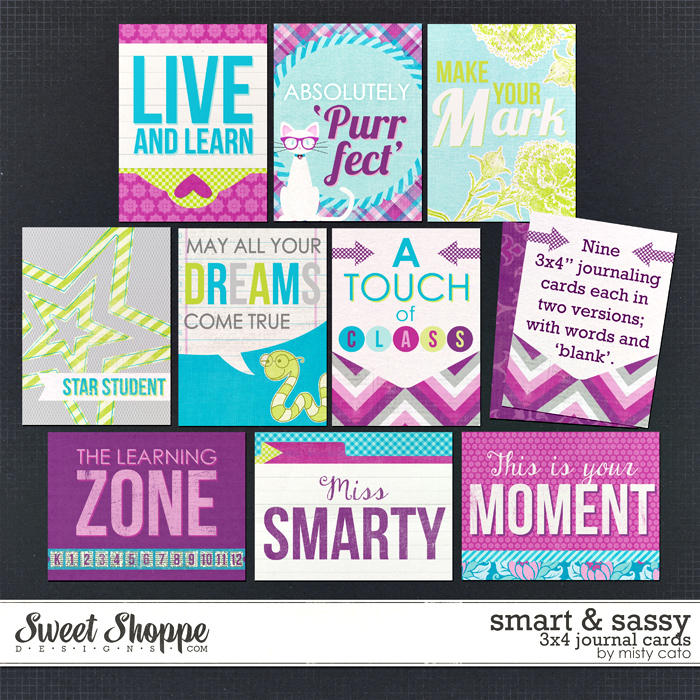 Smart & Sassy Journaling Cards by Misty Cato