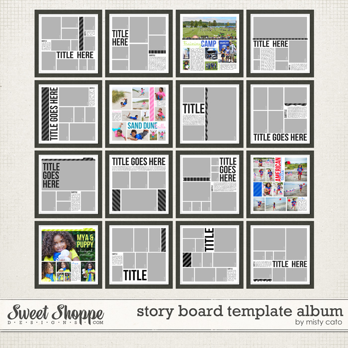 Story Board Template Album by Misty Cato
