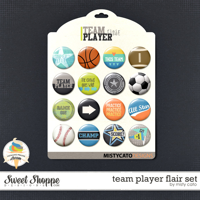 Team Player Flair Set by Misty Cato