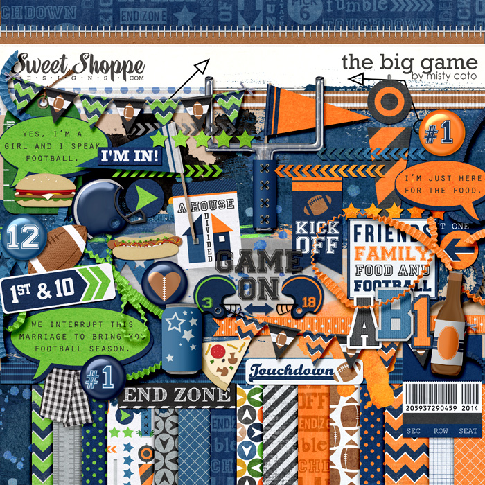 The Big Game digital scrapbooking kit by Misty Cato