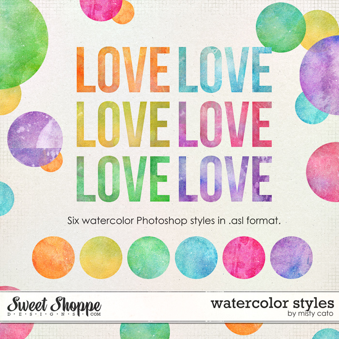 Watercolor PS Styles by Misty Cato