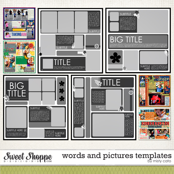 Words and Pictures Templates by Misty Cato