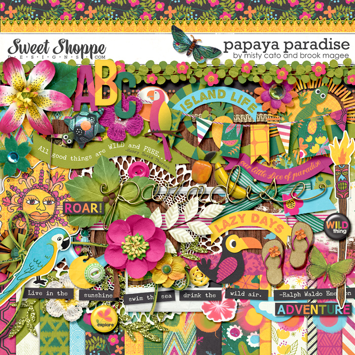 Papaya Paradise by Misty Cato and Brook Magee