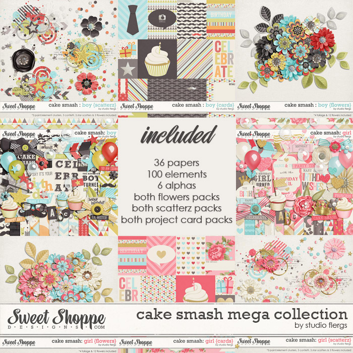 Cake Smash: BOY & GIRL {mega collection} by Studio Flergs