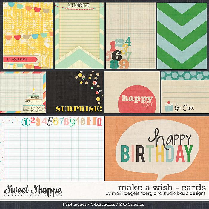 Make A Wish Cards by Studio Basic and Mari Koegelenberg