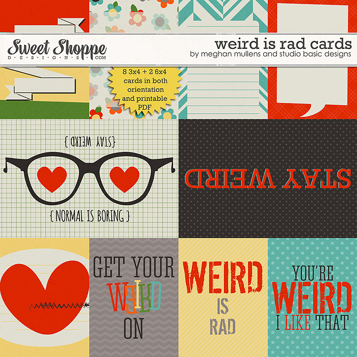 Weird is Rad-Project Cards by Meghan Mullens & Studio Basic Designs