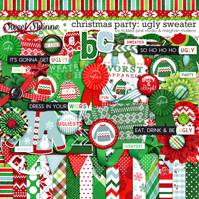 Christmas Party: Ugly Sweater by Meghan Mullens & Tickled Pink Studio