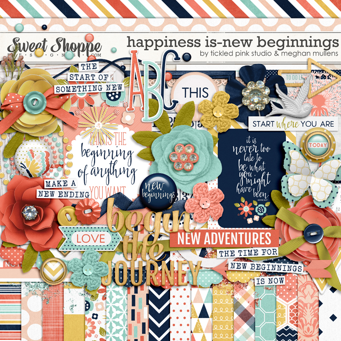 Happiness Is: New Beginnings by Meghan Mullens & Tickled Pink Studio