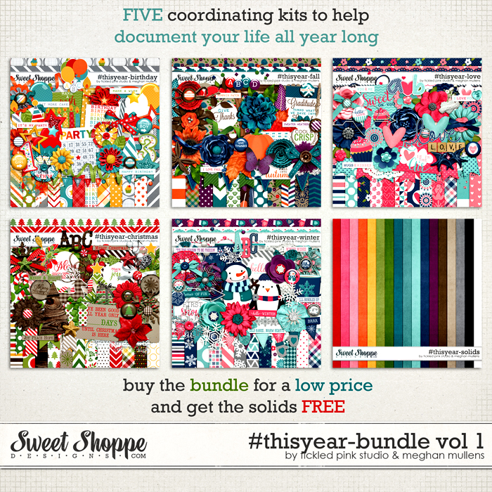 #thisyear-Bundle Vol. 1 by Meghan Mullens & Tickled Pink Studio
