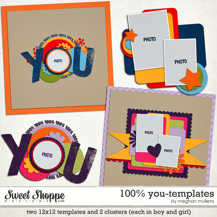 100% You Templates by Meghan Mullens