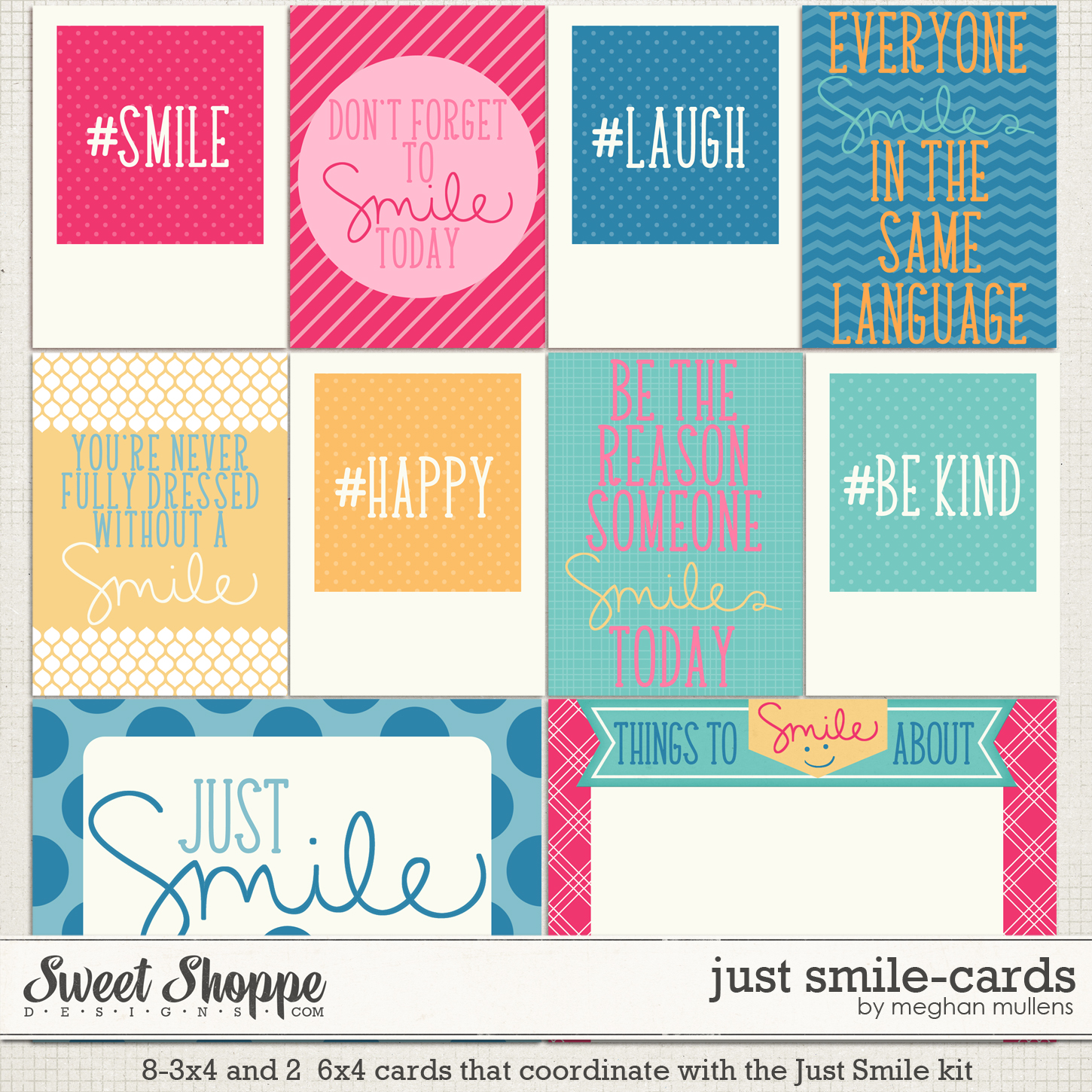 Just Smile-Project Cards