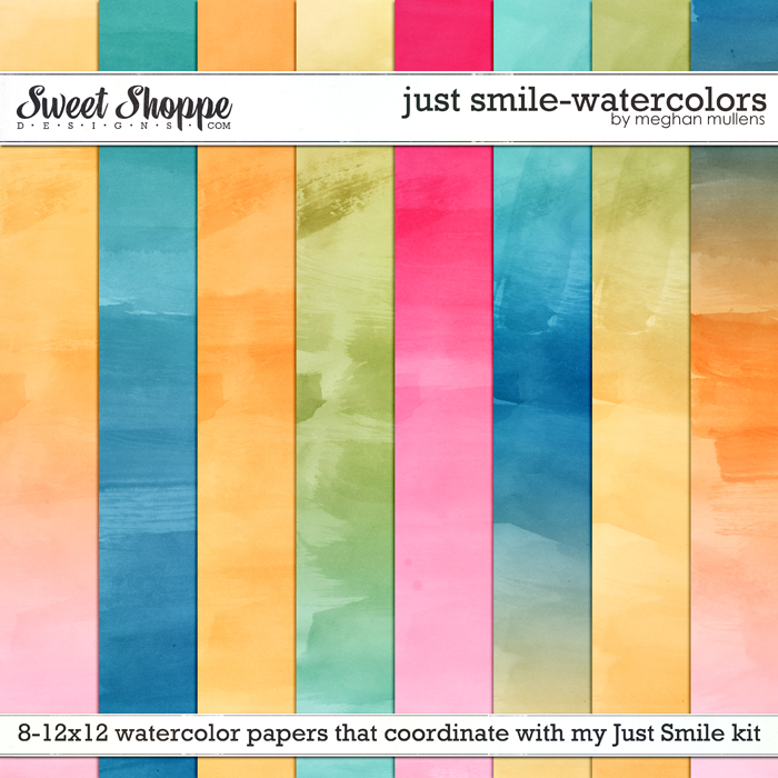 Just Smile-Watercolor Papers by Meghan Mullens
