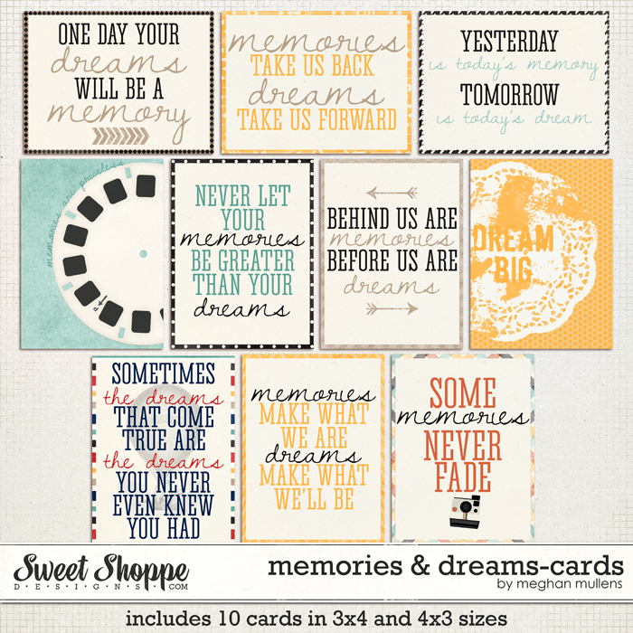 Memories & Dreams Project Cards by Meghan Mullens