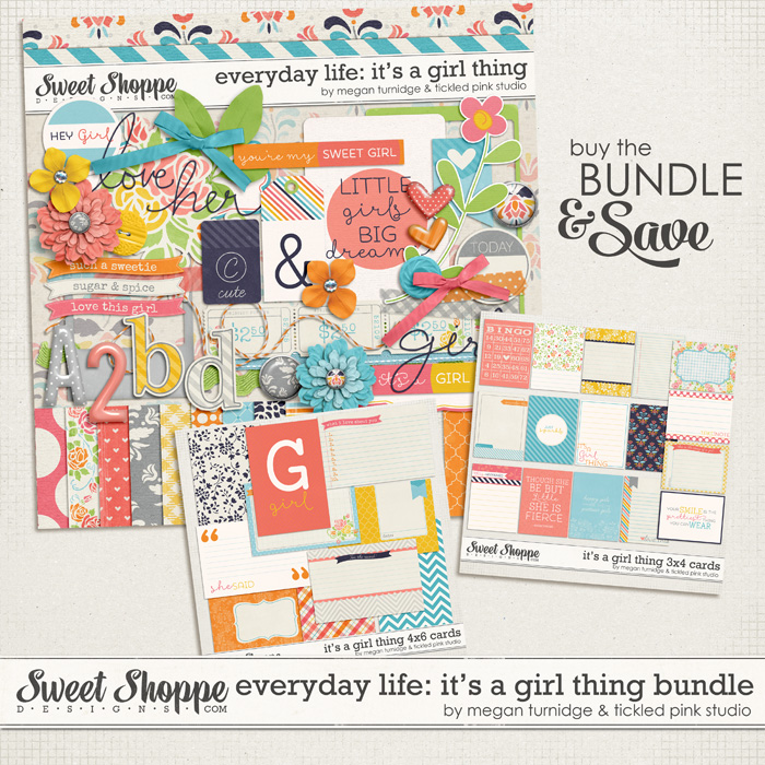 Everyday Life: It's A Girl Thing Bundle by Megan Turnidge & Tickled Pink Studio